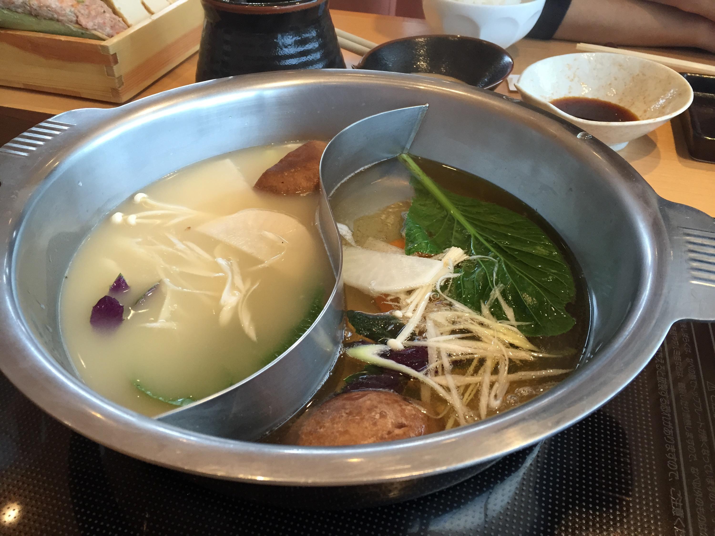 生姜スープと和風スープ