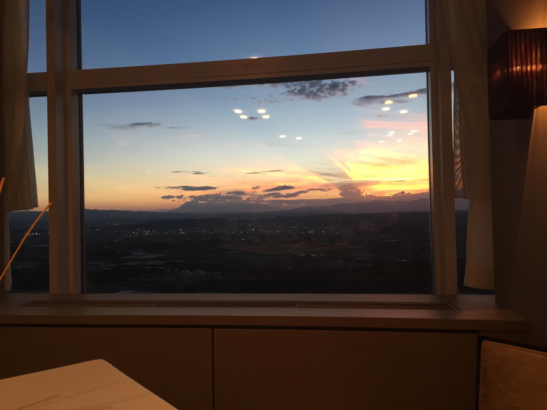 タツヤ・カワゴエで見れた夕焼け。