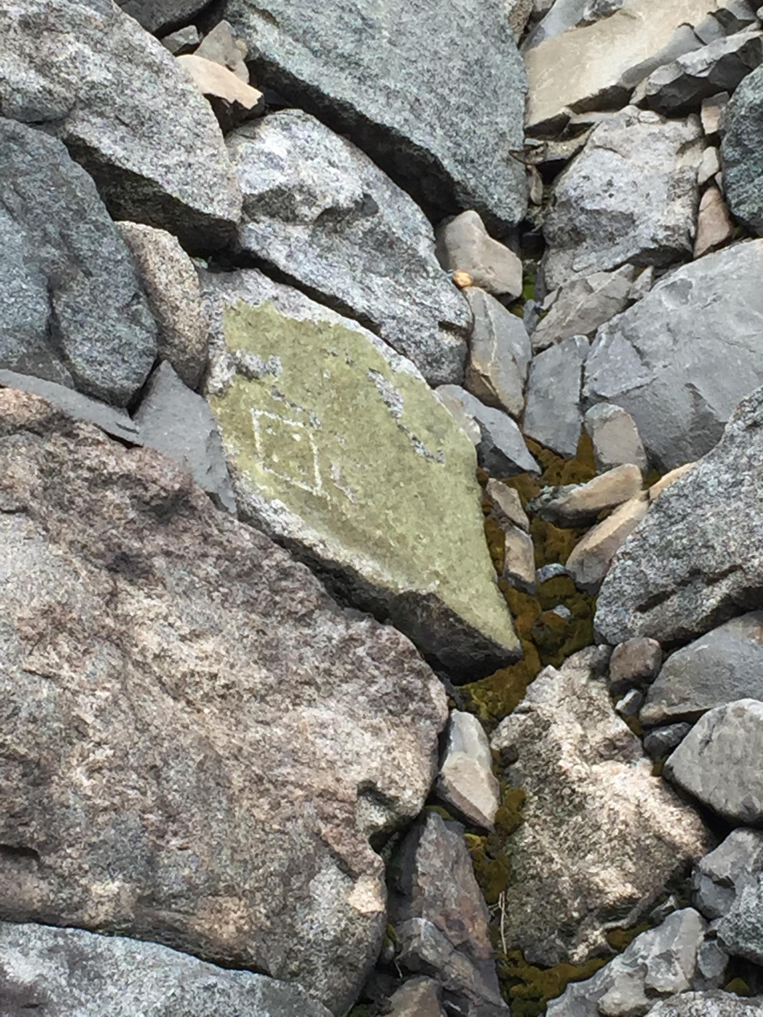 名古屋城の石の刻印