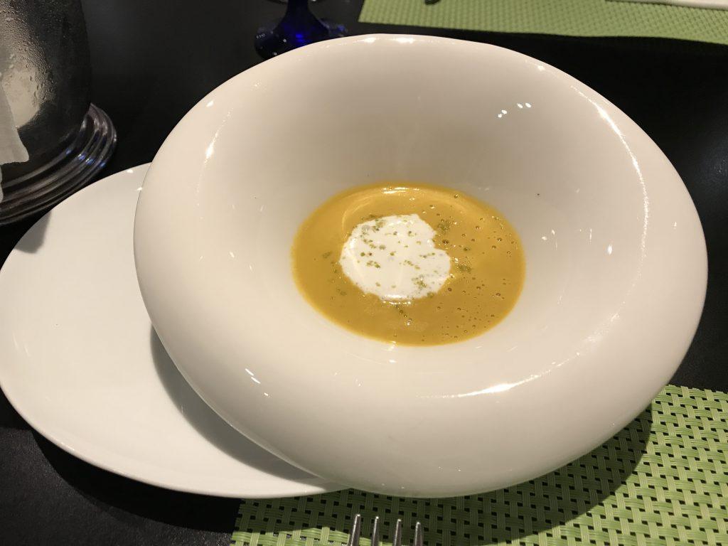 JALシティホテル かぼちゃのスープ