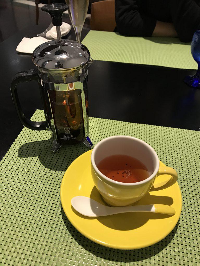 JALシティホテル 食後の紅茶