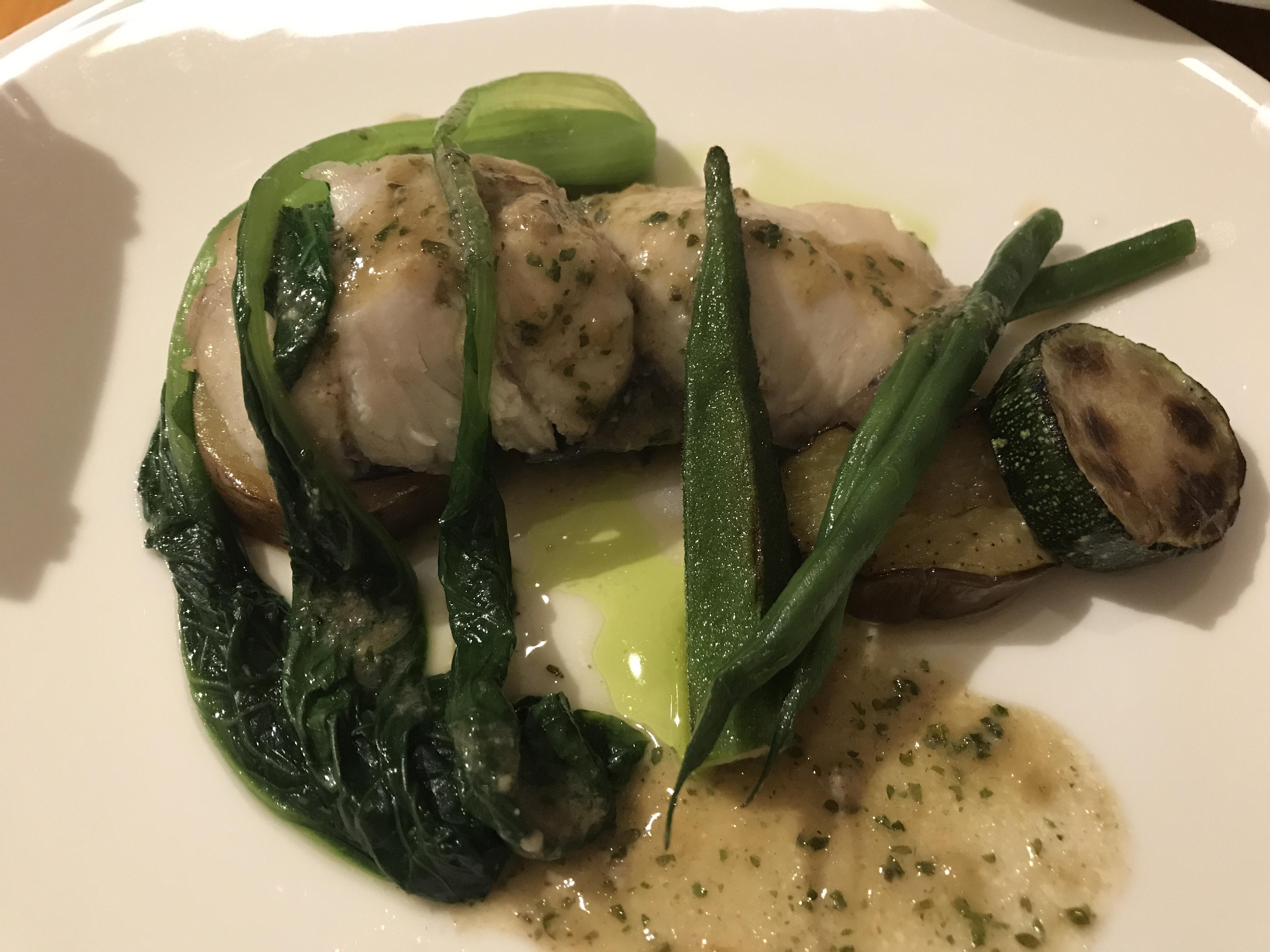 ポチロン メインのお魚料理