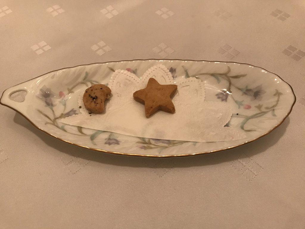 前菜のクッキー